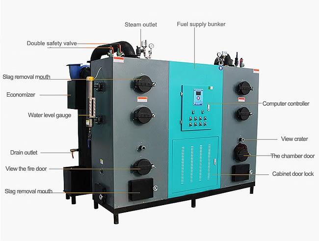 600kg biomass steam generator